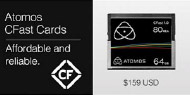 Atomos branded CFast cards - media for the Ninja Star
